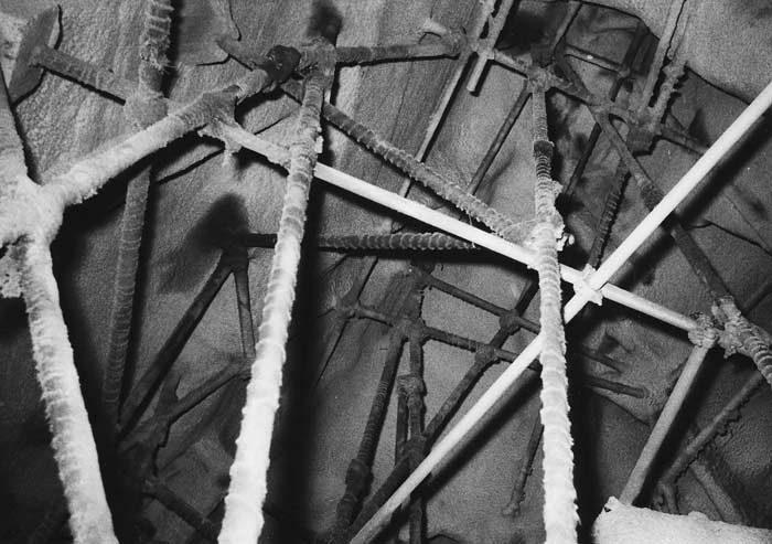 1971 bis 1981 Statische Sanierung einiger Steinbockfelsen mit Stahlgerüst im Innern.