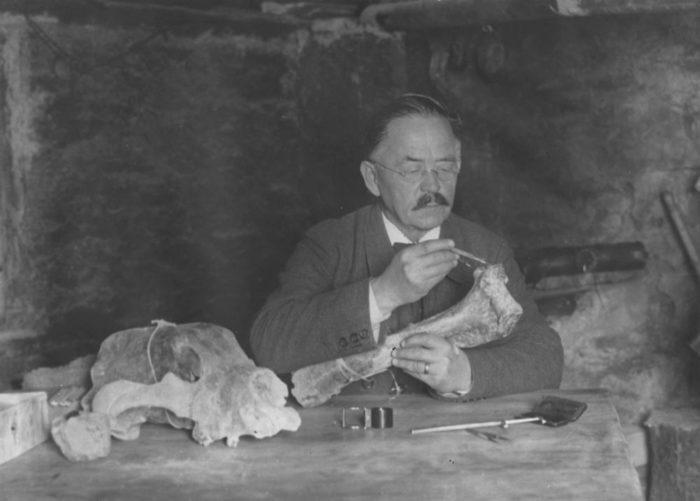Emil Bächler,  Naturforscher und Chronist der Geschichte  zur Wiederansiedlung des Steinbockes.