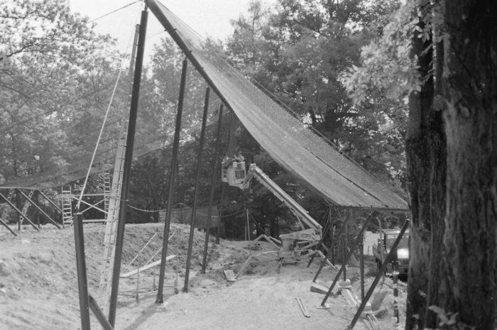 Bau des Waldkatzengeheges